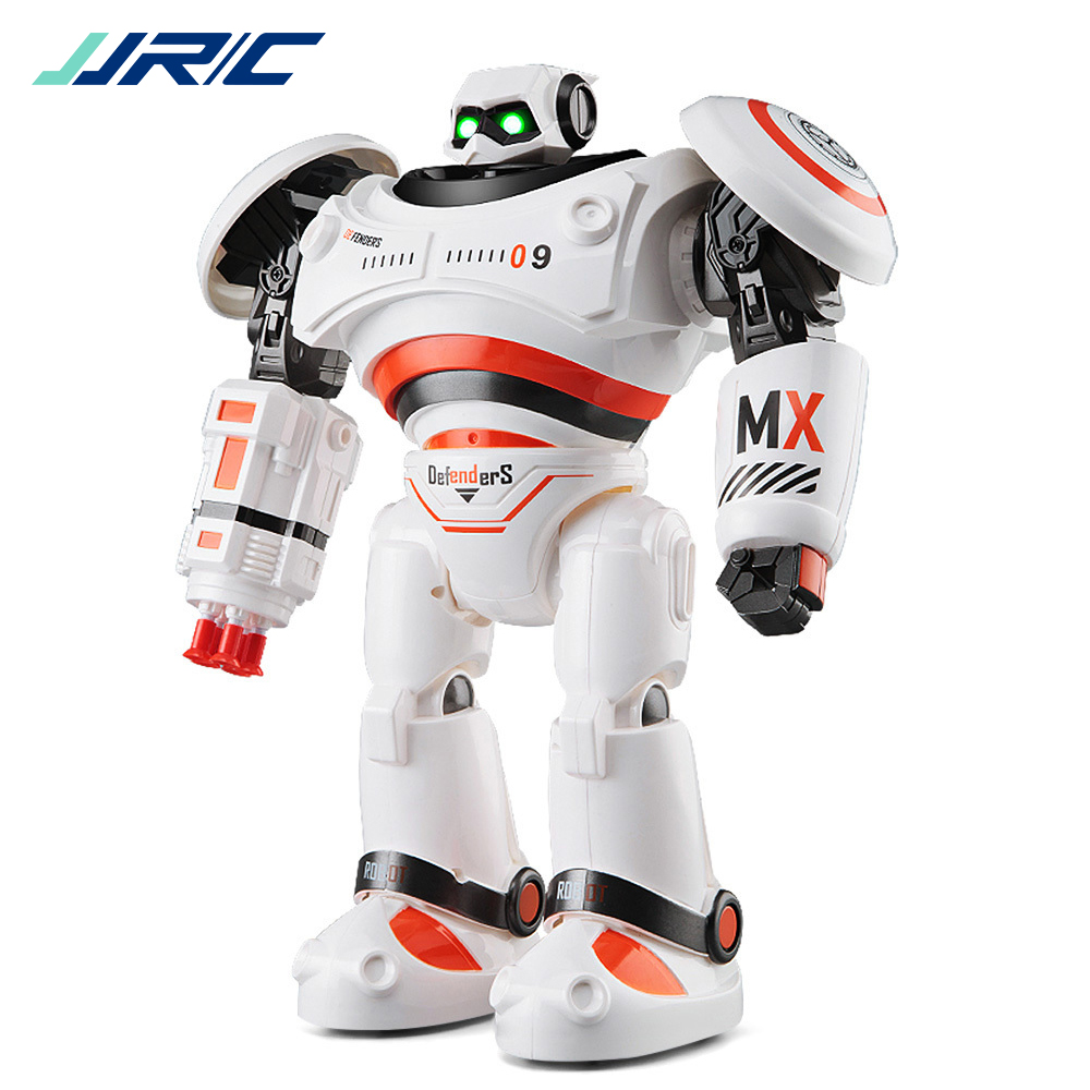JJRC R1 Intelligent Programmable Walking Dancing Combat Defenders RC Robot Remote Control Toys for kids Birthday Gift Present lz333 4 5ch intelligent electric robot remote control rc dancing robot