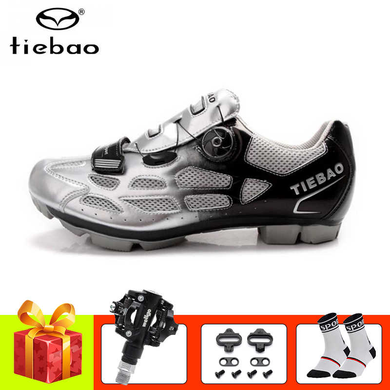 Tiebao sapatilha ciclismo mtb Cycling shoes pedales bicicleta mtb 2019 women men SPD Pedals self-locking mountain bike shoes