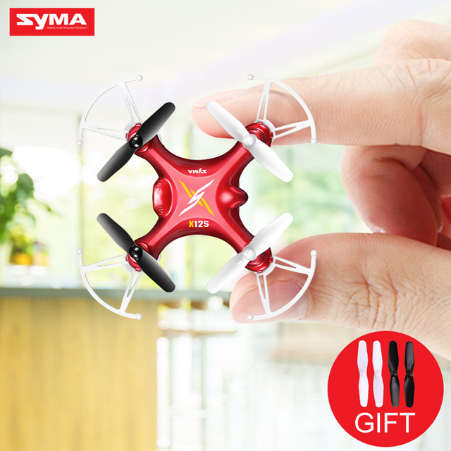 SYMA X12S 2.4G Gyroscope 6-Axis 4CH Mini RC Drone 3D Flip Headless Nano Quadcopter Helicopter Without Camera for Kid's Gift Toys