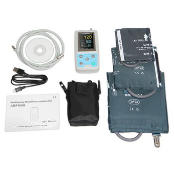 24 hours Ambulatory Blood Pressure Monitor Holter BP Monitor with software with Adult,Child,Large Adult Cuff 2