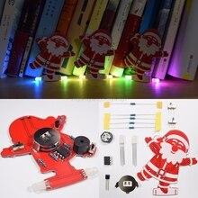 DIY Santa Claus Christmas Tree Decoration Pendant Music Kit LED Electronic Kits N19 dropship