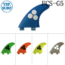 Surfboard Fibreglass Fin FCS G5 Honeycomb Surf Quilhas blue 5 colors black logo