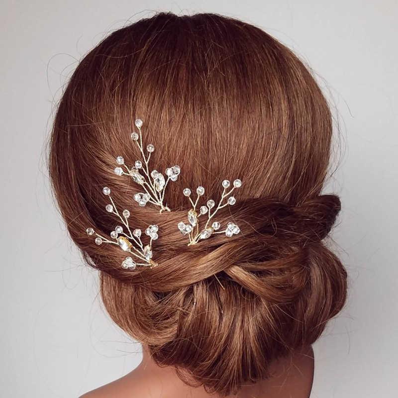 להתחתן מלכת טרנדי אופנה מגוון הכלה פרל סיכת ראש ריינסטון נזר בעבודת יד סיכת ראש חתונת קריסטל שיער אבזרים