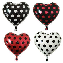 Black Red white spot dot Balloons Mickey Minnie Birthday Party SWave point baby shower decor globos Wholesale balloons(China)