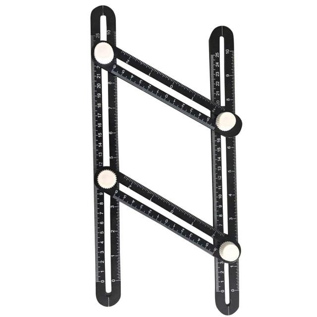 New Angle izer Aluminum Alloy Multi angle Measuring Ruler Template