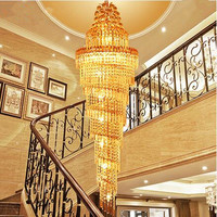 LED 51W 60W Contemporary And Contracted Creative Luxury Villa Stair Lamp Double Entry Stair Lamp Pendant Lamps 110 240V