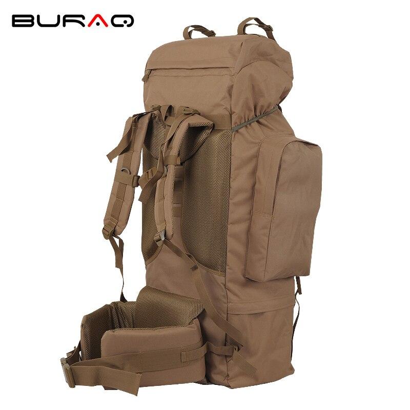 100l sac d'escalade professionnel 600D matériel cadre interne unisexe voyage randonnée en plein air longue Distance noir Camping sac à dos