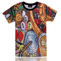 2015 summer style tshirt casual clothing slim camiseta 3d t shirt Billiards hip hop vestidos printed T-shirts swag clothes