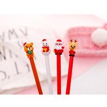 1pcs/lot Creative Cartoon Santa Claus Series Gel Pen  Gift Stationery School Office Supply Christmas Gifts
