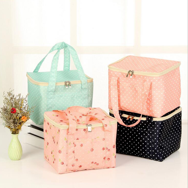 Portable Insulated Canvas lunch Bag Thermal Food Picnic Lunch Bags for Women kid Men Multifunction Cooler Lunch Box Tote