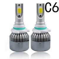 C6 LED Car Headlight H1 H3 Headlamp Light H8 H11 HB3 9005 HB4 9006 9012 9007