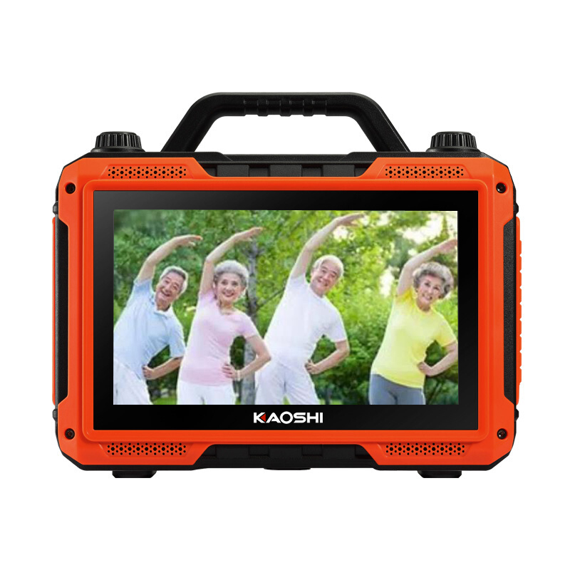 Kaoshi Square Dance Audio Outdoor Bluetooth Speaker Video Player, Portable Portable Home K Song Sound Standard 9 Inch Screen
