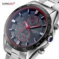 2016 Fashion Luxury Brand LONGBO Stainless Steel Sports Business Style Analog Quartz Watches Waterproof Wrist Mens Watches 80007