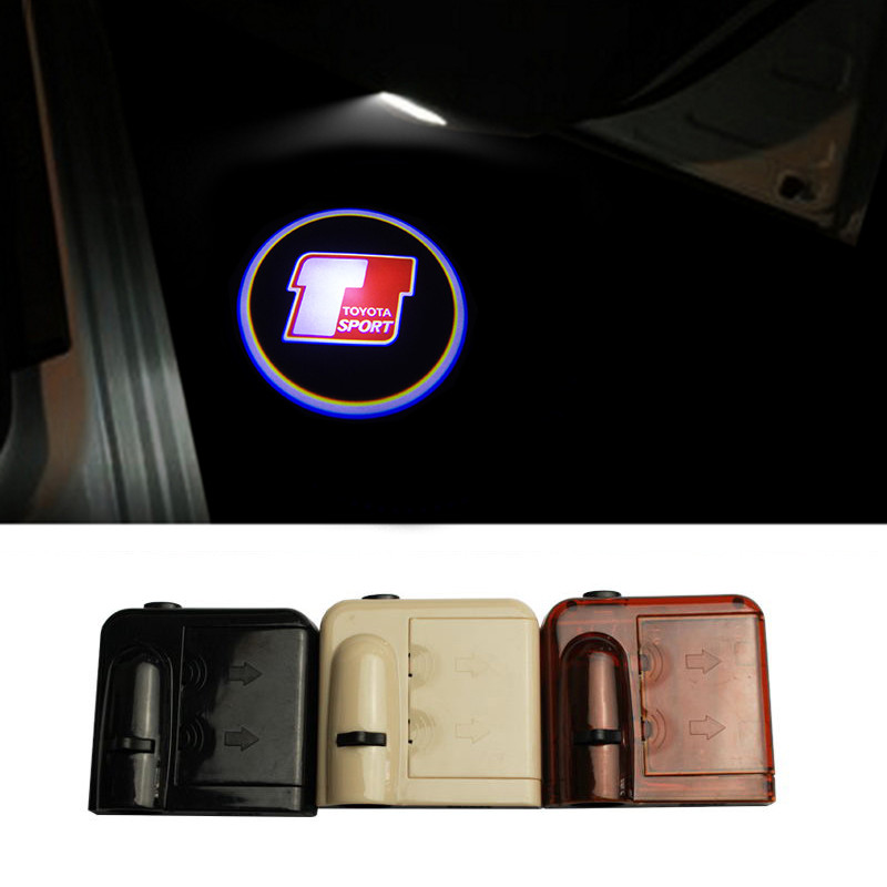 Universal Wireless Courtesy No Drill Magnetic Car LED Door Welcome Projector Logo Ghost Shadow Laser Light for Toyota Sports
