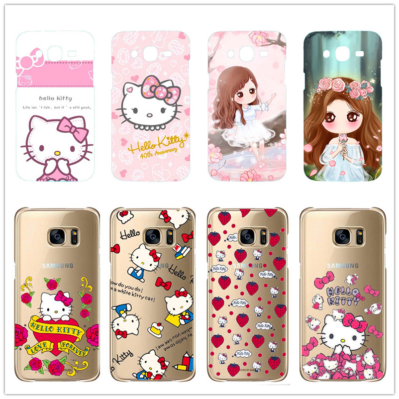 e746a6c55 Cartoon The Little girl Hello Kitty hard plastic cover For Samsung Galaxy  S3 Mini S6 Edge S7Edge Note 2 3 4 5-in Phone Cases from Cellphones ...
