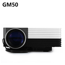 Mini GM50 80LM 480×320 Pixels Proyector de Cine En Casa de Vídeo juegos TV Movie LED Proyector Soporte HDMI VGA AV MHL 3D Beamer