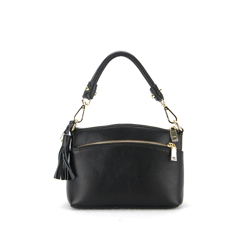 new high quality Litchi pattern genuine leather ladies bag handbag shoulder oblique OL commuter female package shell bag fashion litchi pattern the first layer of leather commute commuter shell bag lock shoulder diagonal wild female bag