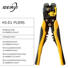 HS-D1 AWG 24-10 0.2-6.0mm2 wire stripper Multifunctional automatic stripping pliers Cable Stripping Crimping tools Cutting