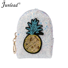 Junlead Sparkly Sequins Female Pineapple Cheap Coin Purse Pocket Change  Wallet For Women Key Chains Cute c8f1afea7580