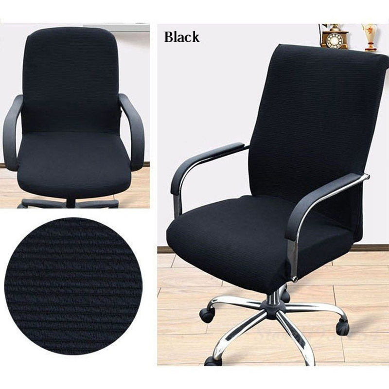 2pcs lot black office computer chair cover side zipper for Armchair side covers