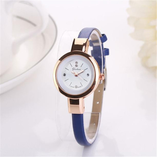 Fashion Women Lady Round Quartz Analog Bracelet women watches Fashion casual Bra