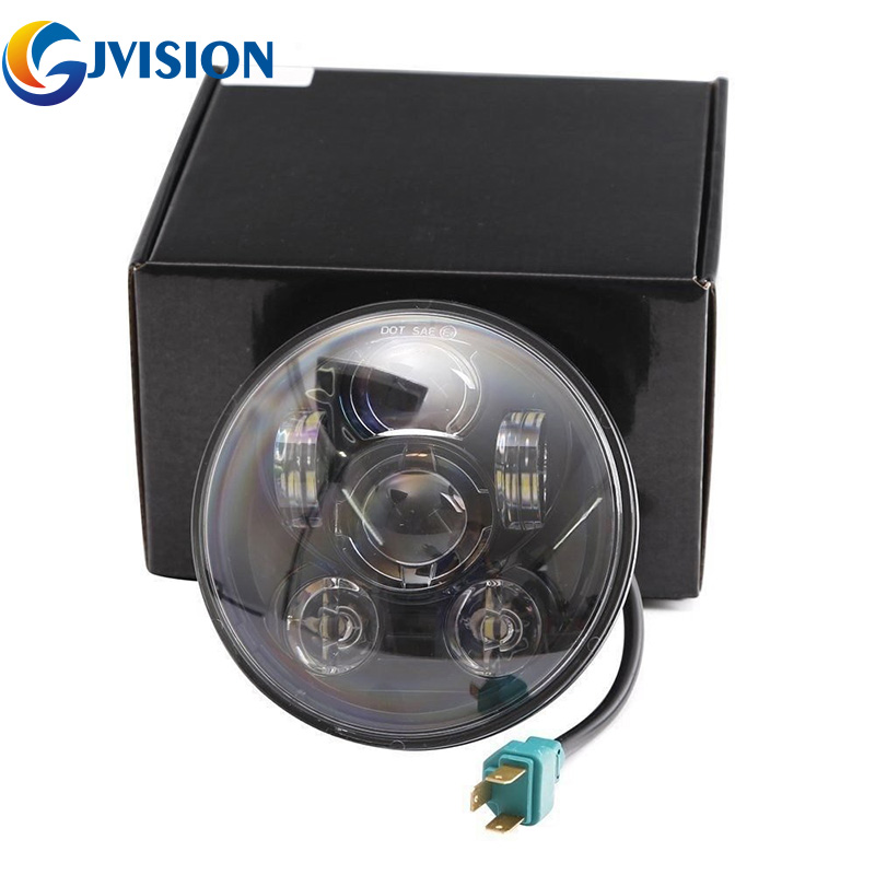 Round Motorcycle Headlight 5.75 Led Driving Lights For Harley Dyna 883 Iron Sportster 5 3/4 Inch Black Projector Headlamp Goods Of Every Description Are Available Home