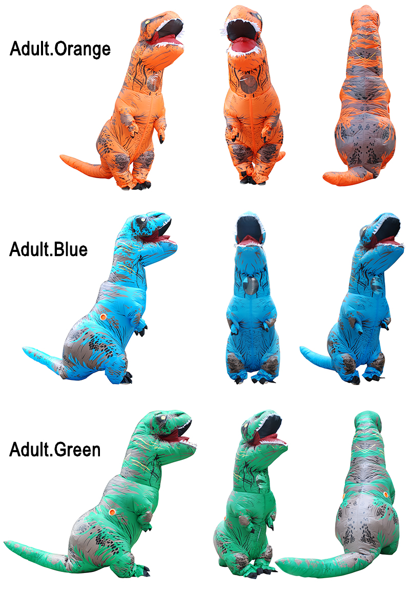 Adult Inflatable Costume Dinosaur Costumes T REX Blow Up Fancy Dress Mascot Cosplay Costume For Men Women Kids Dino Cartoon