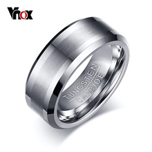 Vnox Classical 100% Tungsten Carbide Ring for Men Wedding Jewelry No Rust dropshipping