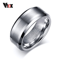 Cool Men Wedding Rings High Quality Tungsten Carbide Engagement Ring For Men Jewelry Wholesale 8MM Wide