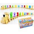 Количество небольшой деревянный детей развивающие игрушки 0 - 9 поезд математика детские игрушки подарок на день рождения для детей детские игрушки