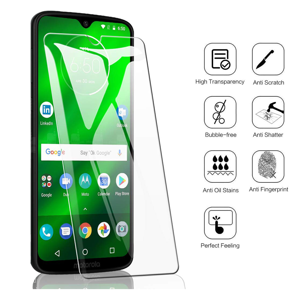 For Motorola Moto G7 Tempered Glass 9H High Quality