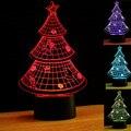 3D Luz Da Noite Decoração Da Árvore de Natal 3D Vision Ilusão USB toque LED Desk Mesa Luminaria Quarto Do Bebê luz Da Noite Acrílico diodo emissor de luz