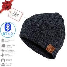 2020 Новая мода зима Беспроводной музыка шляпа Bluetooth наушники гарнитура стерео Волшебная музыкальная шапочка подарок на Новый год