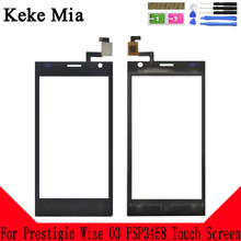 Keke Mia 4.0 Mobile TouchScreen For Prestigio Wize O3 PSP3458 PSP 3458 DUO Touch Screen Panel Front Glass Digitizer