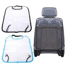Детская Автомобильная защитная задняя крышка для сиденья, прозрачный коврик для детей, грязеотталкивающий водонепроницаемый чехол для детской спинки