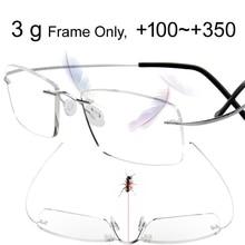 3g только без оправы титановый, ультралегкий очки для чтения Пресбиопия считыватель гиперопия ochki для chteniya sin montura Gafas De Lectura