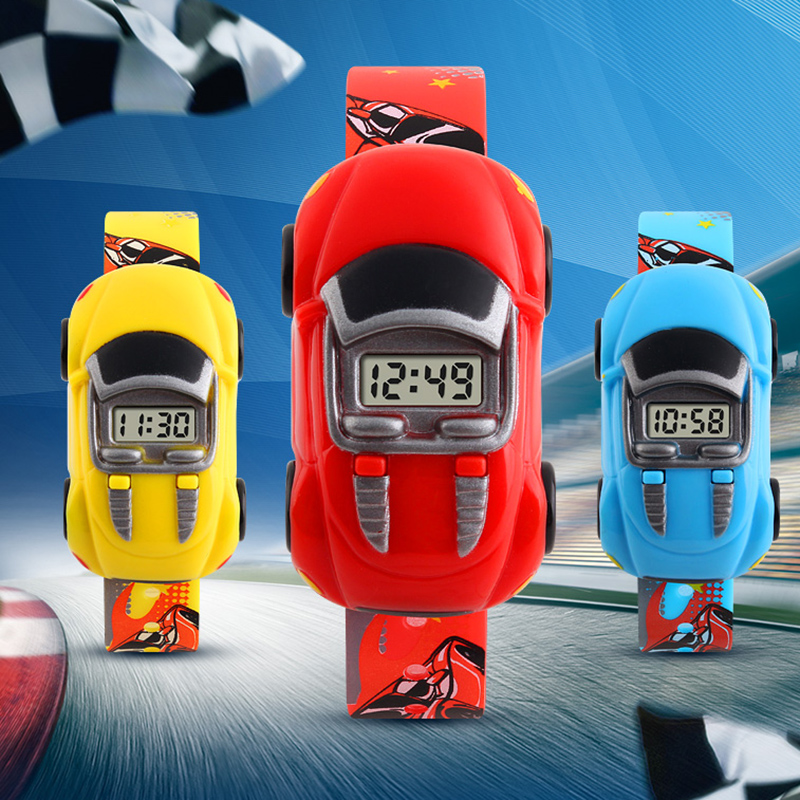 Fashion Casual Kids Digital Watches Children LED Sport Watch Cartoon Car Wristwatch Electronic Watches VL
