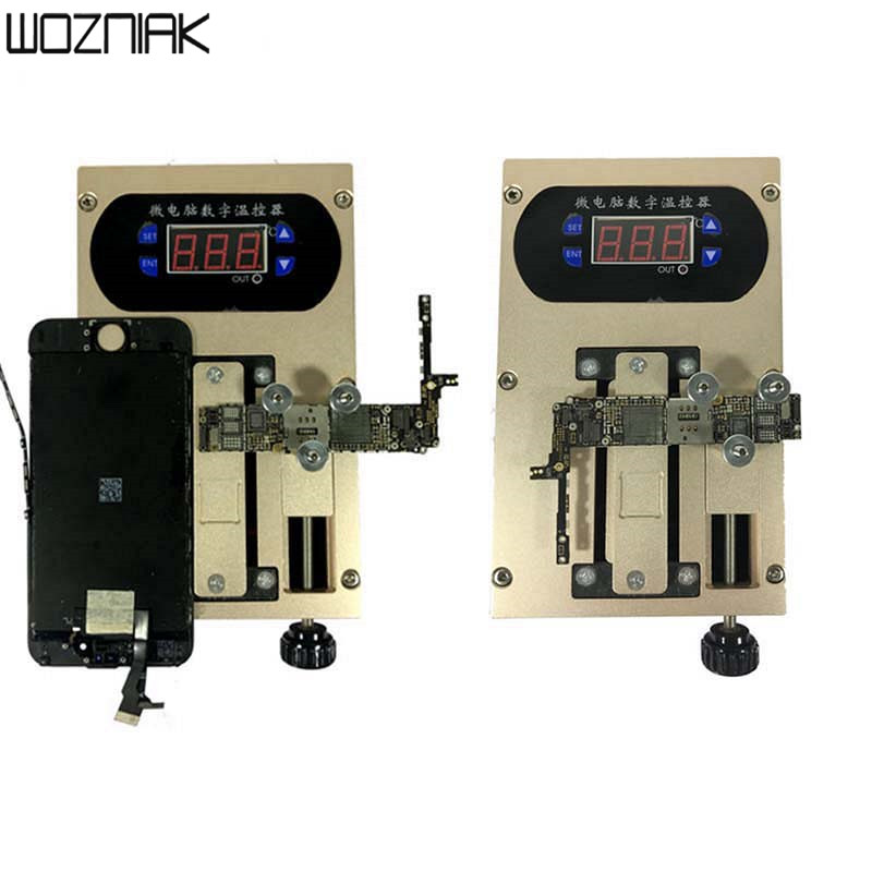 2in1 Mobile phone cover plate Bracket Separator Intelligent heating platform Disassemble A8 A9 CPU chip Glue