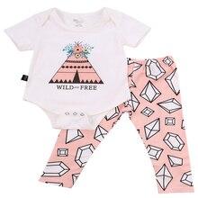 Newborn Sets Baby Clothes Infant Clothes Infant Sets Baby Sets Girl Sets Bodysuit Floral Long Pants Outfits Sunsuit Clothes