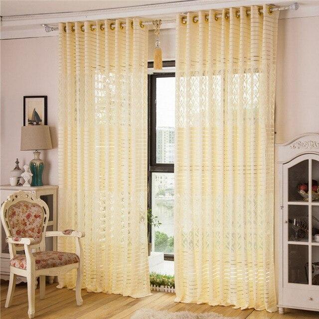 Sheer Curtains Window Kitchen Door Organza Tulle Curtain Living Room Luxury Roman Blinds Beige Home