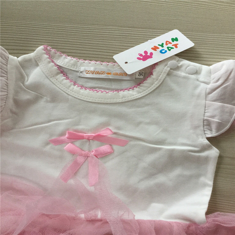 New Summer Baby girl Lace romper Onesie Jumpsuit Newborn baby girl clothes Angel Bodysuit Cotton Short Sleeve Infantil Clothes