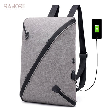 Brand Men Laptop Backpack With USB External Charge Computer Shoulders Anti-theft Backpack Male Waterproof Backpack Drop Shipping фото