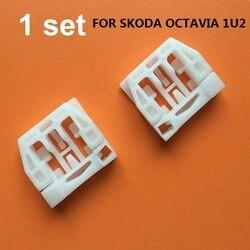 Clips regulador ventana para SKODA Octavia 1U2 KIT de reparación delantera derecha/izquierda 1996-2010