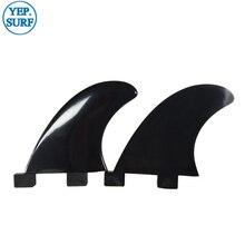 Surfboard Plastic FCS Fins GL Black Fin 2 pcs per set