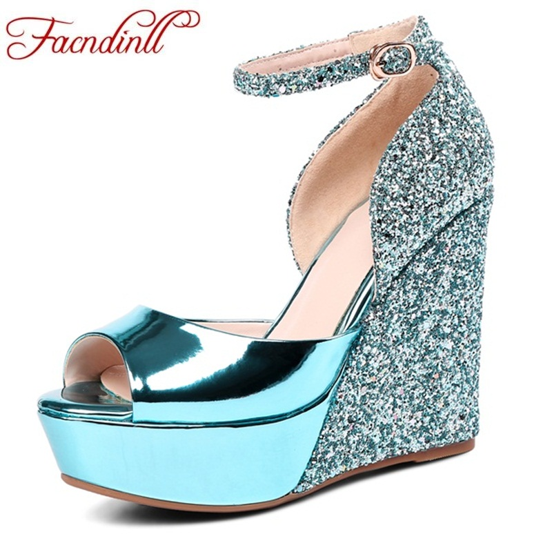 FACNDINLL glatiator wedges sandals fashion summer platform sandals sexy peep toe super high heels ladies dress party woman shoes facndinll new women summer sandals 2018 ladies summer wedges high heel fashion casual leather sandals platform date party shoes