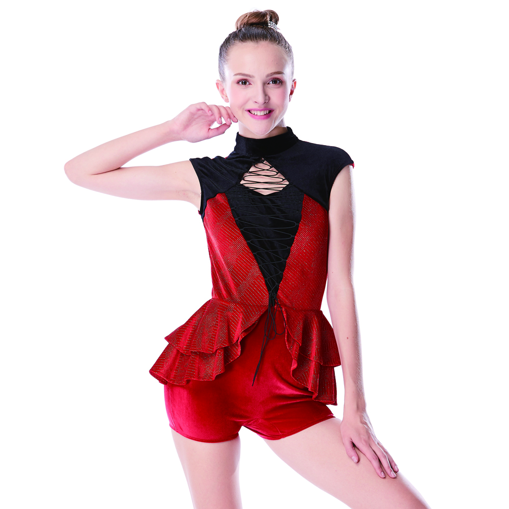 MiDee Jazz Dance Dress Costume Girls Hip Hop Dance Wear Competizione moderna Performance Dance Dance Sparkle