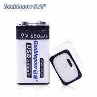 2 sztuk/partia Doublepow DP-9VUSB650mAh Li-ion akumulatory tylko dla Android port USD naładowany, hurtownie i OEM jest do zaakceptowania