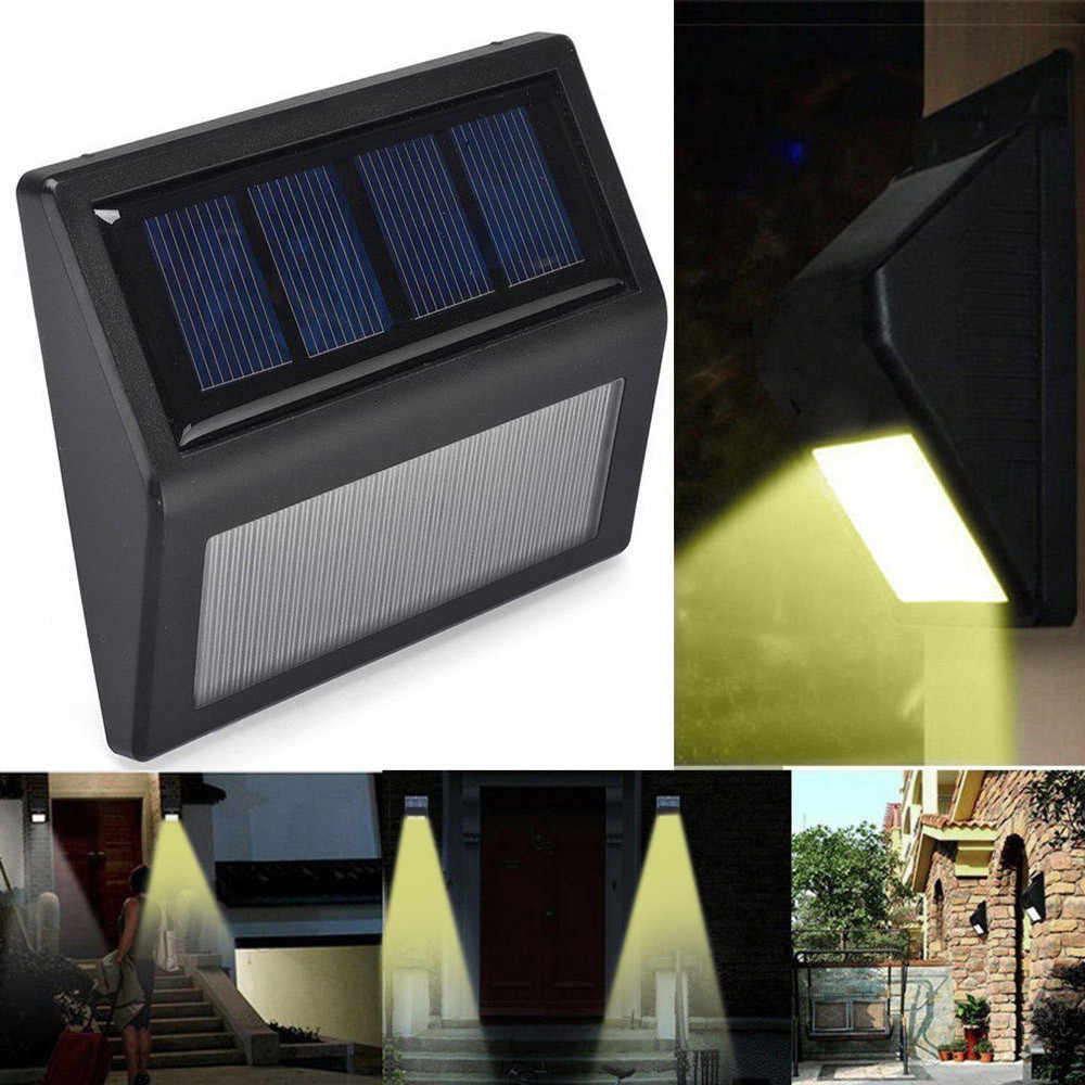 LED Solar Lamp Waterproof 6 LED Solar Power PIR Motion Sensor Wall Light Outdoor Garden Stairs Solar Optically controlled Lamp