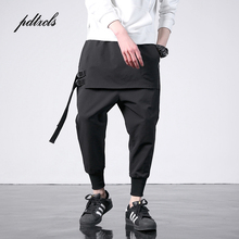 New Western Diablo Style Fashion Individuality Side Ribbon Mens Jogger Trousers Hip Hop Autumn Casual Street Male Harem Pants