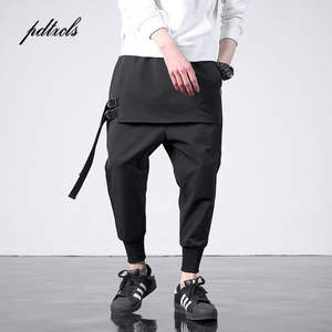 Image 1 - New Western Diablo Style Fashion Individuality Side Ribbon Mens Jogger Trousers Hip Hop Autumn Casual Street Male Harem Pants